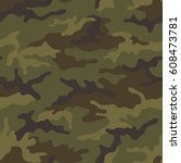 seamless camouflage pattern.... | Shutterstock .eps vector #608473781
