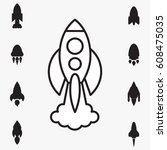 space rocket icon isolated....