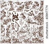 vintage patterns for design. | Shutterstock .eps vector #60847774