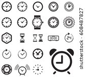 clock icon isolated. time logo  ... | Shutterstock .eps vector #608487827