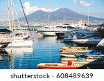 scene of the famous old volcano ...   Shutterstock . vector #608489639
