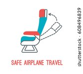 concept of rules of airplane... | Shutterstock .eps vector #608496839