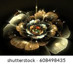 Abstract Flame Flower Petals.