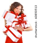 Young Woman With Gifts. Shot I...