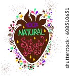 colorful hand drawn... | Shutterstock .eps vector #608510651