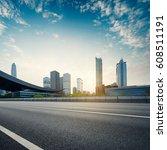 empty asphalt road of a modern...   Shutterstock . vector #608511191