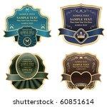 luxury golden labels | Shutterstock .eps vector #60851614