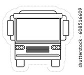 bus vehicle icon | Shutterstock .eps vector #608516609