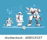 evolution of robotics | Shutterstock .eps vector #608519237