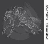 hand drawn illustration of...   Shutterstock .eps vector #608526929