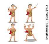 Hercures God Hero Cartoon...