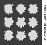 protect guard shield plain line ... | Shutterstock .eps vector #608544089