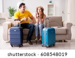 family preparing the vacation... | Shutterstock . vector #608548019