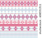 ethnic seamless pattern with...   Shutterstock .eps vector #608551511