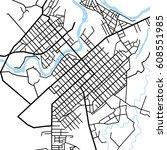 street map texture  vector | Shutterstock .eps vector #608551985