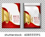rice package thailand food logo ... | Shutterstock .eps vector #608555591