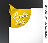 easter sale text uncovered from ... | Shutterstock .eps vector #608556335