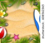 illustration beautiful poster... | Shutterstock .eps vector #608562365