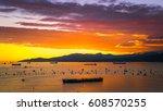 Golden Sunset Cloud Sky Ocean...