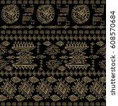 ornamental seamless pattern.... | Shutterstock .eps vector #608570684