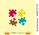 puzzle  vector illustration. | Shutterstock .eps vector #608572727
