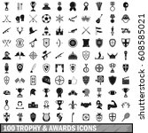 100 Trophy And Awards Icons Se...
