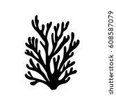 sea corals silhouette | Shutterstock .eps vector #608587079