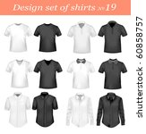 black  and white men polo and t ... | Shutterstock .eps vector #60858757
