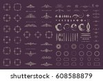circle and square wicker... | Shutterstock .eps vector #608588879