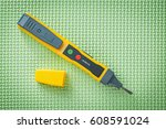 electrical tester detector on... | Shutterstock . vector #608591024