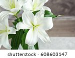 Beautiful White Lilies On...