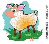 white sheep | Shutterstock .eps vector #60861649