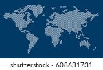 world map dotted. dotted world... | Shutterstock .eps vector #608631731