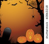halloween layout with pumpkins  ... | Shutterstock .eps vector #60863218