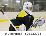 Small photo of Hockey goalie