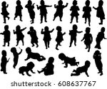 illustration with child... | Shutterstock .eps vector #608637767