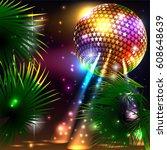 summer beach party flyer | Shutterstock .eps vector #608648639
