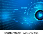 digital technology background... | Shutterstock .eps vector #608649551