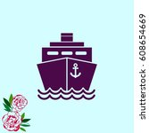 ship icon  vector illustration. ... | Shutterstock .eps vector #608654669