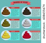 shades color of poop  healthy... | Shutterstock .eps vector #608655674