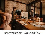 shot of a group of young...   Shutterstock . vector #608658167