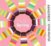 floral background for text   Shutterstock .eps vector #608659499