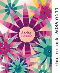 floral background for text | Shutterstock .eps vector #608659511
