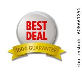 round button with label 'best... | Shutterstock .eps vector #608661395