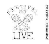 festival live music concert... | Shutterstock .eps vector #608665169
