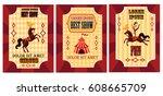 Funny Circus Poster Set. Poste...