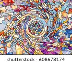 stained glass series.... | Shutterstock . vector #608678174