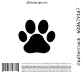 paw print icon. vector   Shutterstock .eps vector #608679167