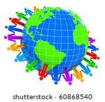 abstract 3d illustration of...   Shutterstock . vector #60868540