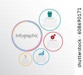 vector infographic templates...   Shutterstock .eps vector #608690171